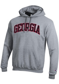 Georgia Bulldogs Champion Powerblend Twill Hooded Sweatshirt - Grey