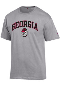 Georgia Bulldogs Champion Arch Mascot T Shirt - Grey