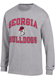 Georgia Bulldogs Champion Number One Design T Shirt - Grey