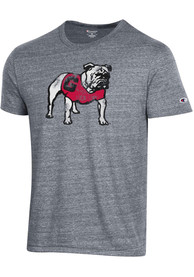 Georgia Bulldogs Champion Ultimate Triblend Distressed Mascot Fashion T Shirt - Grey