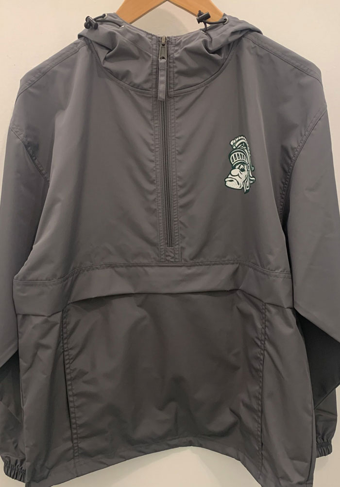 Champion Michigan State Spartans Mens Charcoal Packable Light Weight Jacket - Image 2