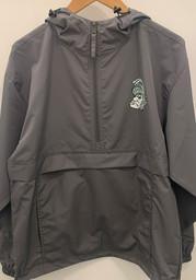 Champion Michigan State Spartans Mens Charcoal Packable Light Weight Jacket