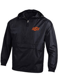 Oklahoma State Cowboys Champion Packable Light Weight Jacket - Black
