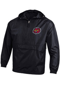 Temple Owls Champion Packable Light Weight Jacket - Black