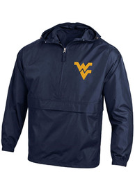 West Virginia Mountaineers Champion Packable Light Weight Jacket - Navy Blue