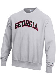 Georgia Bulldogs Champion Reverse Weave Arch Name Crew Sweatshirt - Grey