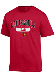 Louisville Cardinals Champion Dad Graphic T Shirt - Red