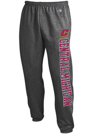 Central Michigan Chippewas Champion Powerblend Closed Bottom Sweatpants - Charcoal