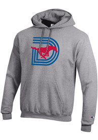 SMU Mustangs Champion Triple D Powerblend Hooded Sweatshirt - Grey