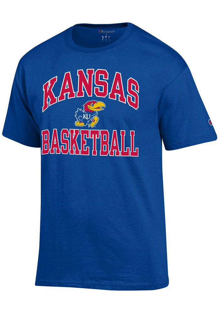 Kansas Jayhawks Champion Basketball T Shirt - Blue