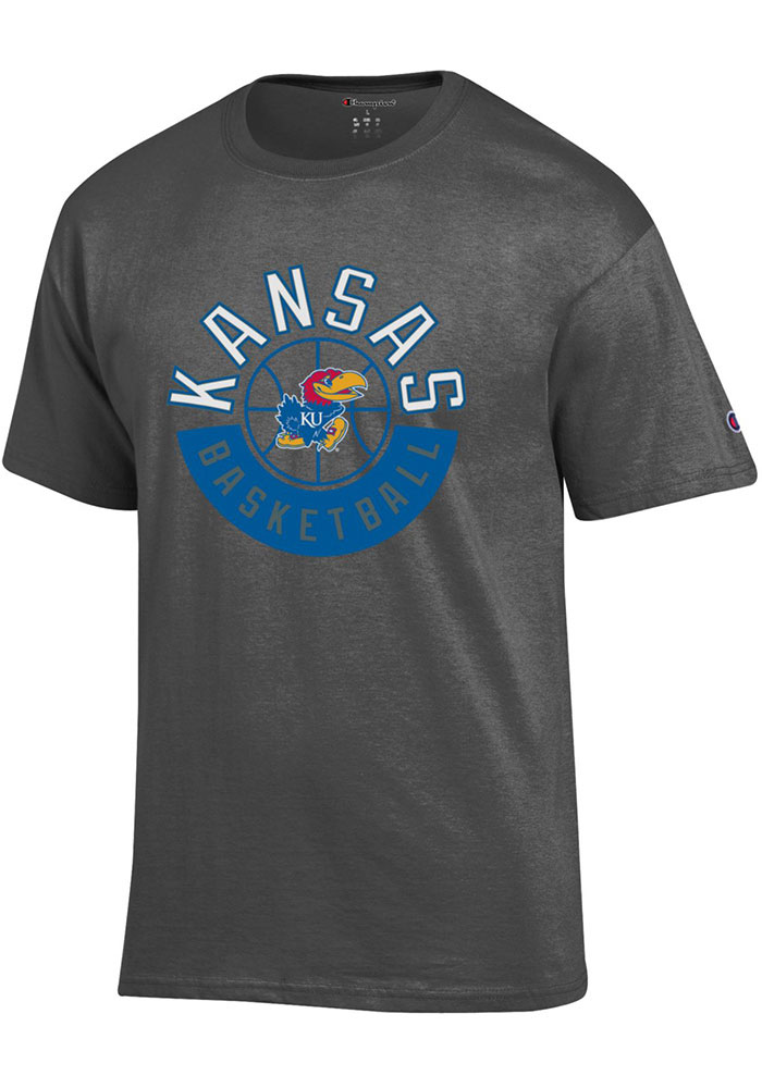 Kansas Jayhawks Champion Basketball T Shirt - Charcoal