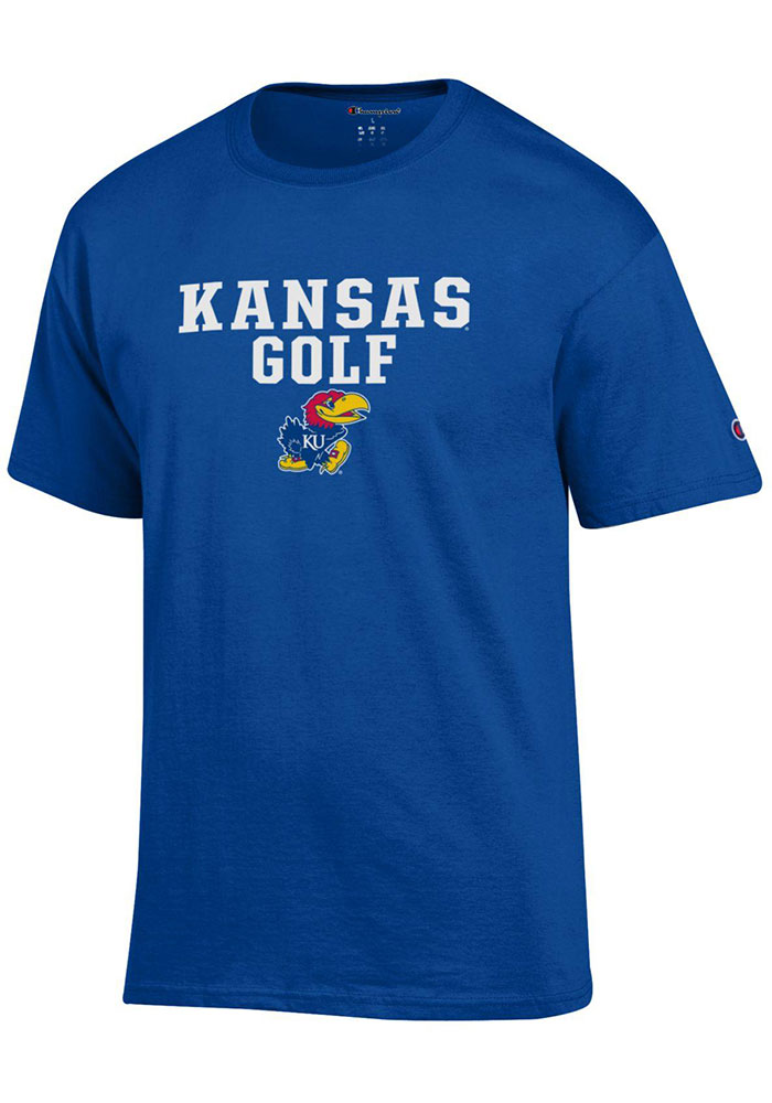 Kansas Jayhawks Champion Golf T Shirt - Blue
