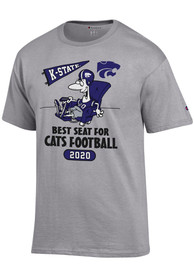 K-State Wildcats Champion Best Seat T Shirt - Grey