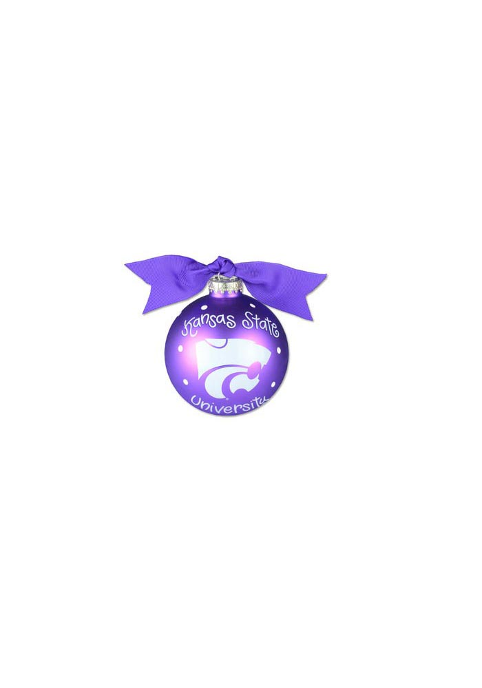 K-State Wildcats Polka Dot Ornament - Image 1