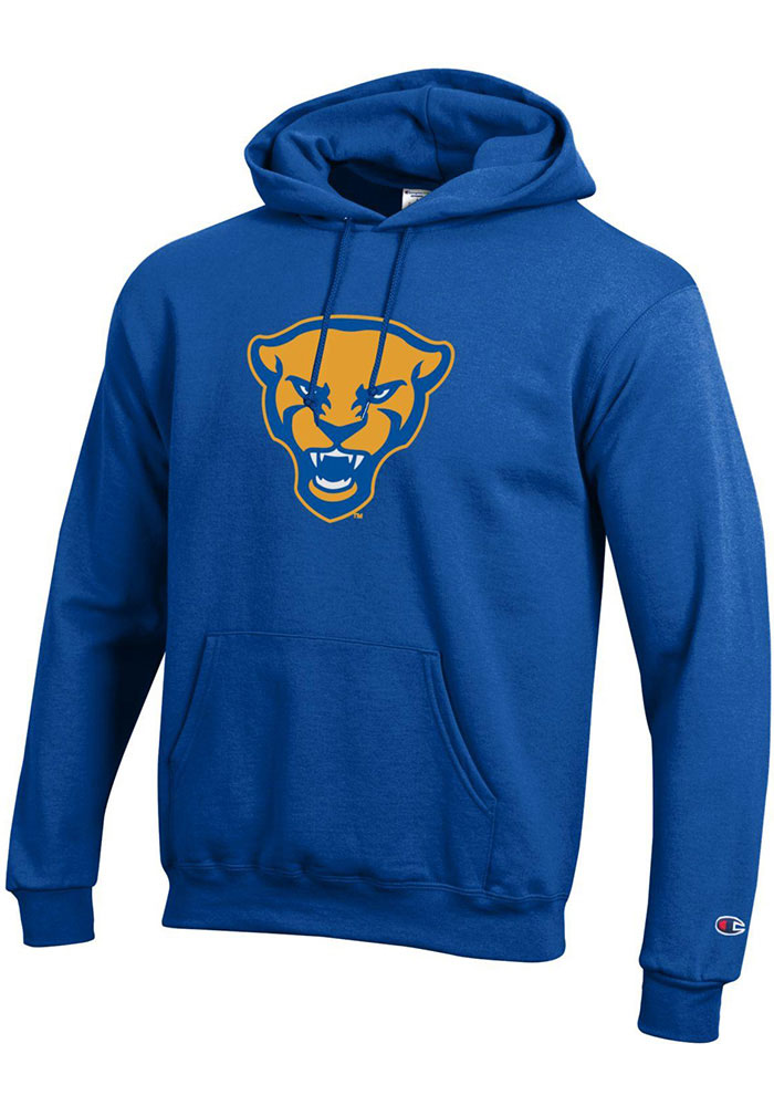 Pitt Panthers Champion Panther Head Hooded Sweatshirt - Blue