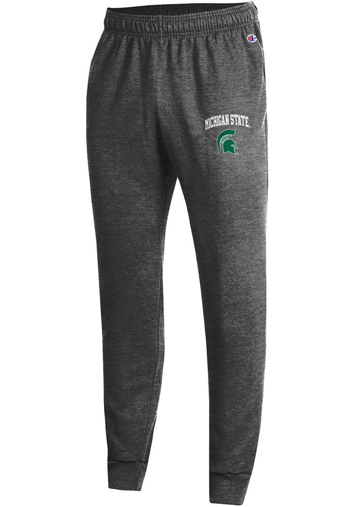 Champion Michigan State Spartans Mens Charcoal Powerblend Jogger Sweatpants - Image 1