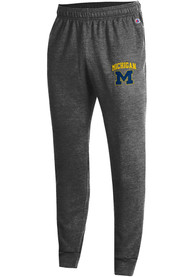 Michigan Wolverines Champion Powerblend Jogger Sweatpants - Charcoal