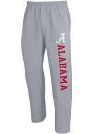 Alabama Crimson Tide Champion Powerblend Open Bottom Sweatpants - Grey