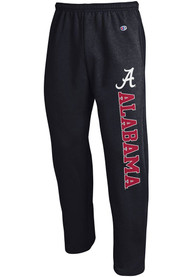 Alabama Crimson Tide Champion Powerblend Open Bottom Sweatpants - Black