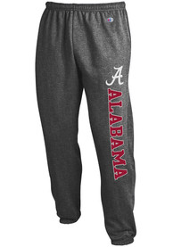 Alabama Crimson Tide Champion Powerblend Closed Bottom Sweatpants - Charcoal