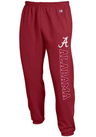 Alabama Crimson Tide Champion Powerblend Closed Bottom Sweatpants - Crimson