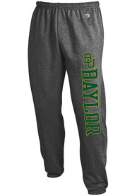 Baylor Bears Champion Powerblend Closed Bottom Sweatpants - Charcoal
