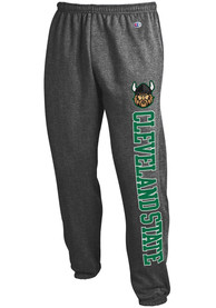 Cleveland State Vikings Champion Powerblend Closed Bottom Sweatpants - Charcoal