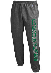 Eastern Michigan Eagles Champion Powerblend Closed Bottom Sweatpants - Charcoal