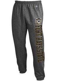 Fort Hays State Tigers Champion Powerblend Closed Bottom Sweatpants - Charcoal