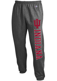 Indiana Hoosiers Champion Powerblend Closed Bottom Sweatpants - Charcoal