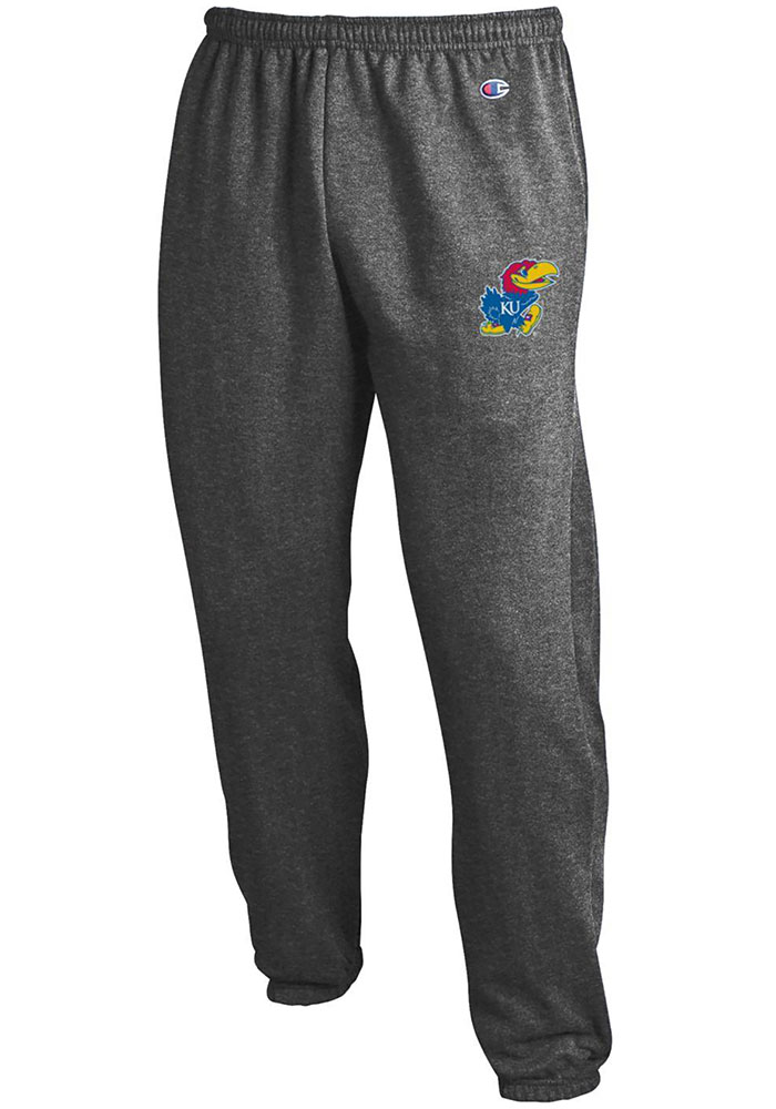 Kansas Jayhawks Champion Powerblend Jogger Sweatpants - Charcoal