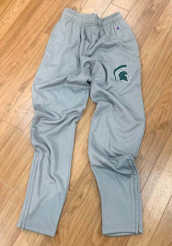 Champion Michigan State Spartans Mens Grey Field Day Fleece Pants - Image 2