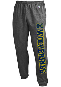Michigan Wolverines Champion Powerblend Closed Bottom Sweatpants - Charcoal