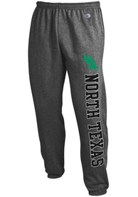 North Texas Mean Green Champion Powerblend Closed Bottom Sweatpants - Charcoal