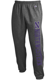 Northwestern Wildcats Champion Powerblend Closed Bottom Sweatpants - Charcoal