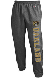 Oakland University Golden Grizzlies Champion Powerblend Closed Bottom Sweatpants - Charcoal