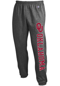 Oklahoma Sooners Champion Powerblend Closed Bottom Sweatpants - Charcoal