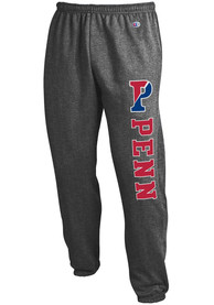 Pennsylvania Quakers Champion Powerblend Closed Bottom Sweatpants - Charcoal