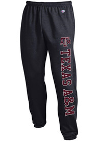 Texas A&M Aggies Champion Powerblend Closed Bottom Sweatpants - Black