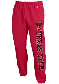 Texas Tech Red Raiders Champion Powerblend Closed Bottom Sweatpants - Red