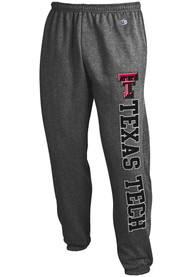 Texas Tech Red Raiders Champion Powerblend Closed Bottom Sweatpants - Charcoal