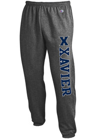 Xavier Musketeers Champion Powerblend Closed Bottom Sweatpants - Charcoal