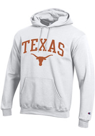 Texas Longhorns Champion Powerblend Hooded Sweatshirt - White