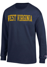 West Virginia Mountaineers Champion Wordmark T Shirt - Navy Blue