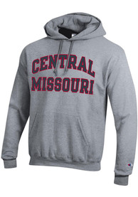 Central Missouri Mules Champion Arch Name Hooded Sweatshirt - Grey