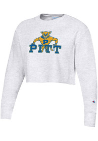 Pitt Panthers Womens Champion Reverse Weave Cropped Boyfriend Crew Sweatshirt -