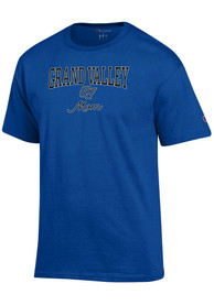 Grand Valley State Lakers Womens Champion Mom T-Shirt - Blue