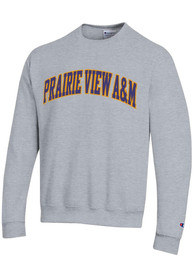 Prairie View A&M Panthers Champion Powerblend Twill Crew Sweatshirt - Grey
