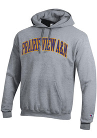 Prairie View A&M Panthers Champion Powerblend Twill Hooded Sweatshirt - Grey