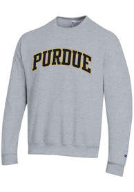 Purdue Boilermakers Champion Powerblend Twill Crew Sweatshirt - Grey